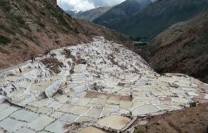 <p><strong>SF Fig. 2.4.</strong> (<strong>B</strong>) Salt evaporation ponds near Maras, Peru.</p><br />