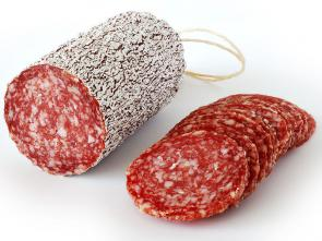 <p><strong>SF Fig. 2.17.</strong> Example (<strong>C</strong>) of salt-preserved foods: Salami, a type of salt-cured sausage</p><br />