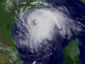 <p><strong>Fig. 1.4.</strong> OLP 3. Hurricane Ike approaching the Texas coast on September 12, 2008.</p>