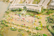 <p><strong>Fig. 4.15.</strong> (<strong>A</strong>) Storm surge from Hurricane Iniki in September 1992 in Kaua'i, Hawai'i</p><br />