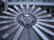 <p><strong>SF Fig. 2.15. </strong>(<strong>B</strong>) Mendeleev monument in Slovakia. The elements are arranged around Mendeleev's likeness.</p><br />