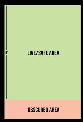 Tabletop display safe area