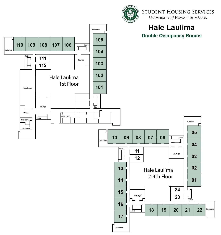 Hale Laulima Doubles Floor Plan