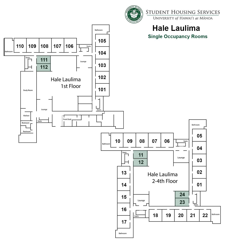 Hale Laulima Singles Floor Plan