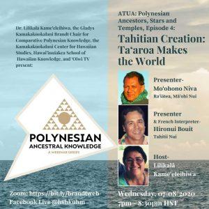 Polynesian Ancestral Knowledge Webinar- Episode 4 @ ONLINE