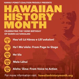 Hawaiian History Month @ ONLINE- http://hawaiianhistorymonth.org