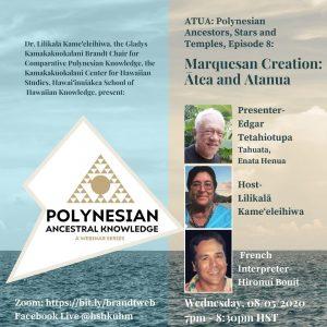 Polynesian Ancestral Knowledge Webinar @ ONLINE