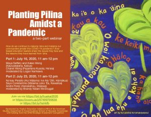 Planting Pilina Amidst A Pandemic @ ONLINE