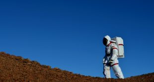 Astronaut walks