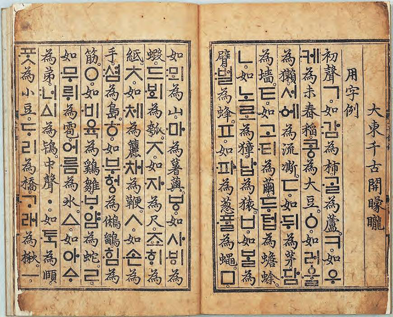 Page from Hunminjongum