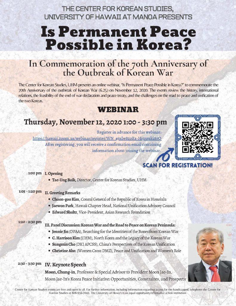 CKS-Korean War Webinar Poster-2 20201112