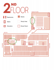 Second Floor Highlighted Study Areas
