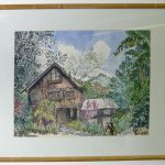 Agee's House, watercolor by Hilbeary