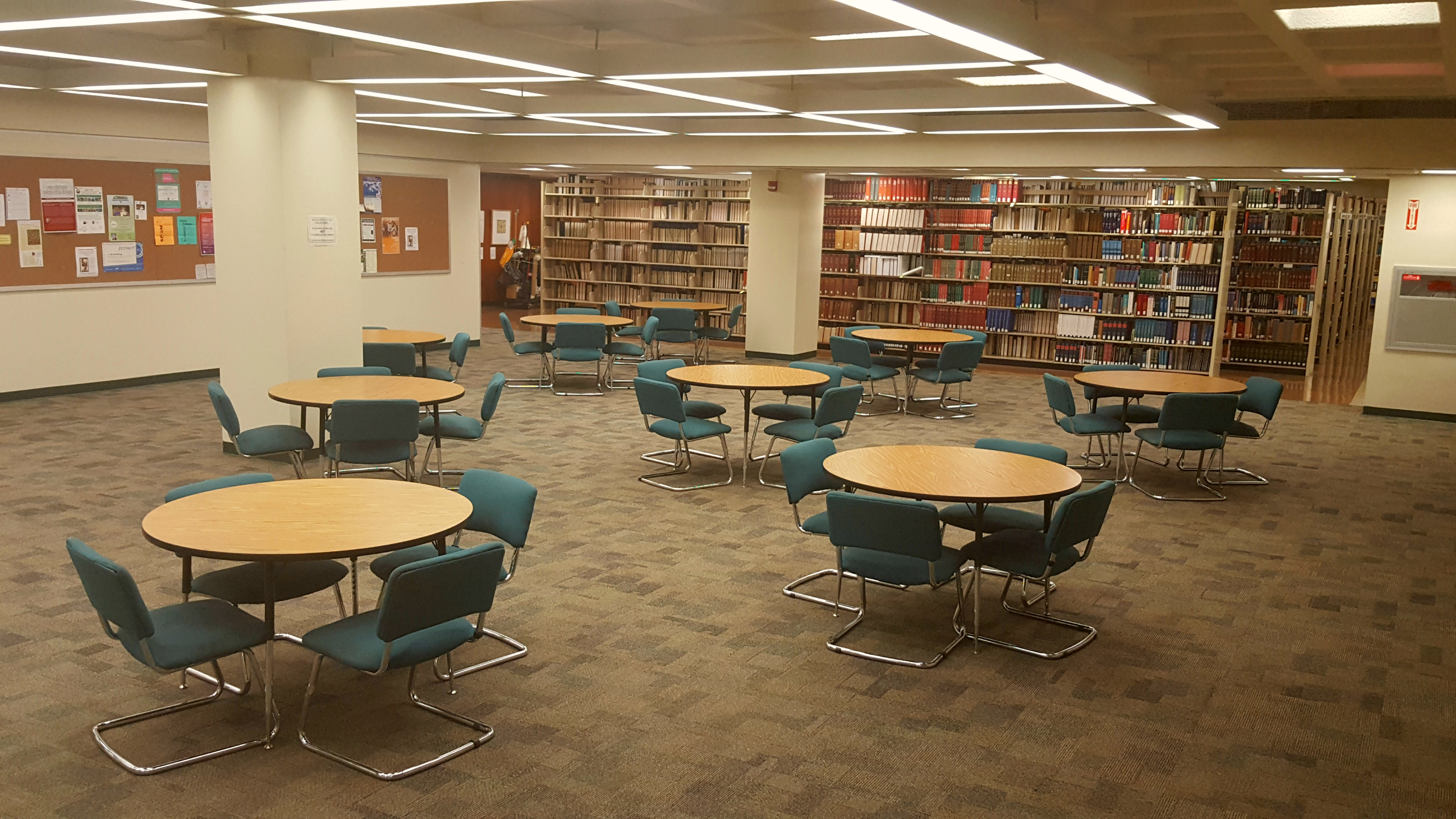 Hamilton Library Reference Area Study Space