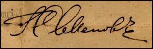 Signature of Ataman Grigorii Mikhailovich Semenov
