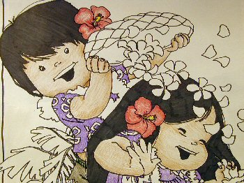 Coloring a RAINBOW: a selection of coloring books in the Hawaiian Collection