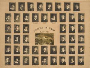 The 1924 graduating class composite photo.