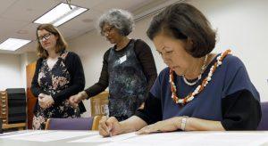Irene Inouye Signing