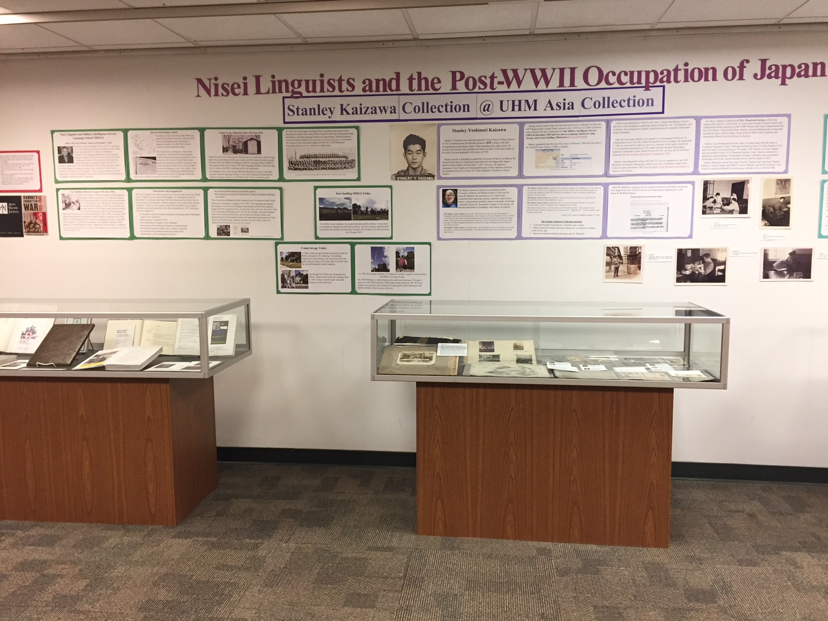 Nisei Linguists Exhibit Display. Image 3 of 4