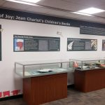 A view of posters and book displays in the Jean Charlot's Children's Books exhibit