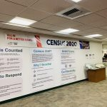 Wall display for Census 2020: ALL in for a Better Hawaii exhibit