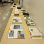 Books on display for the A glimpse into everyday life of postwar North Korea presentation