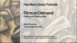 Thumbnail of opening screen for Films on Demand tutorial