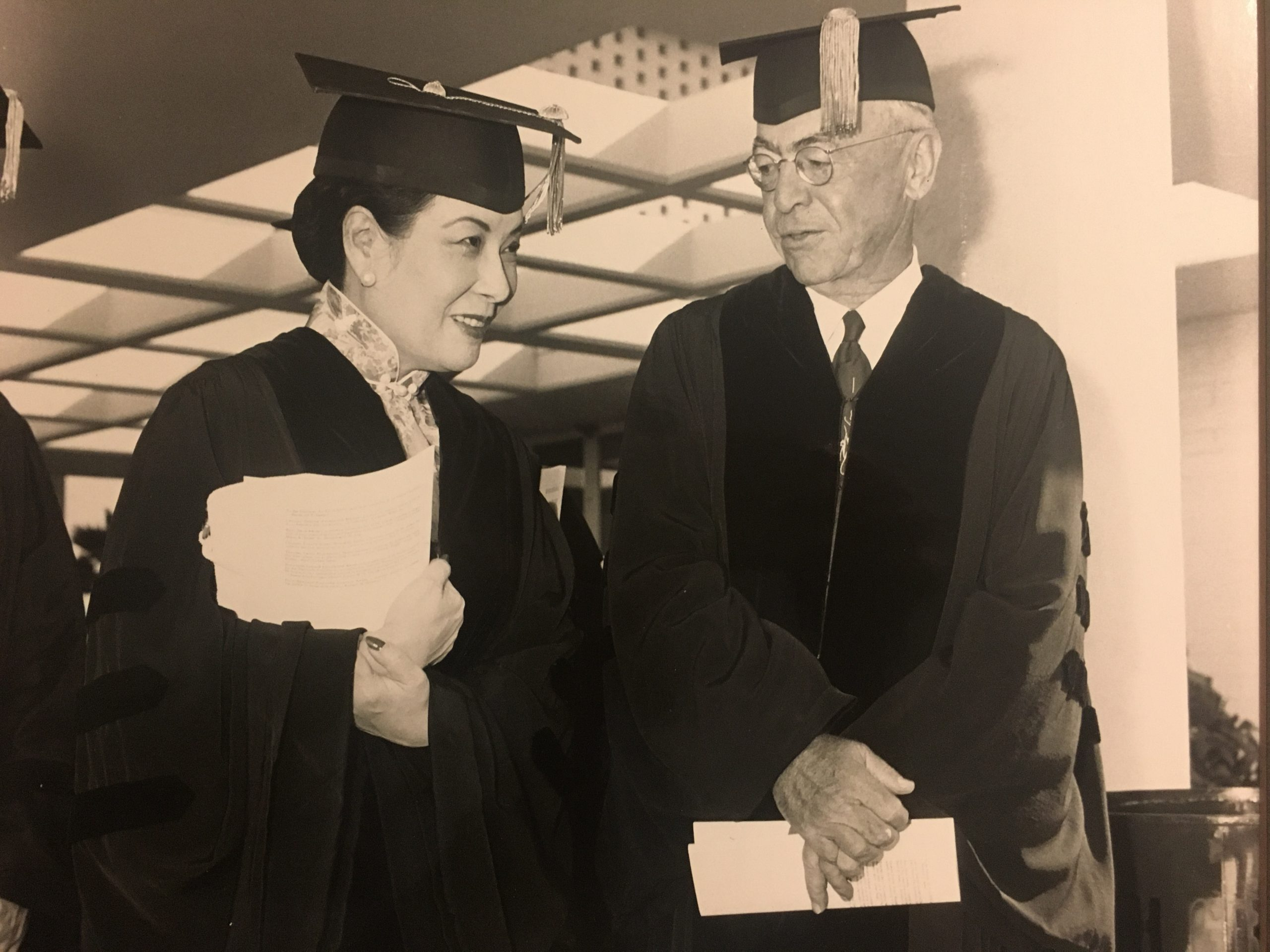 Inspiring Women of Asia Exhibit - Madame Chiang Kai Shek in Graduation Attire