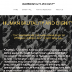 Human Brutality and Dignity: To Commemorate the 40th anniversary of kwangju uprising on may 18th 1980