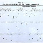 Risk Assessment Matrix for the Kahalu'u Community