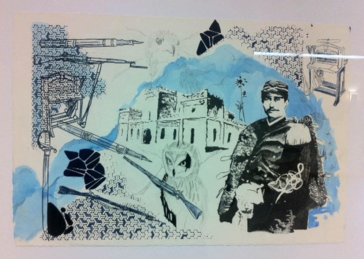 Illustration featured in trip around the Island exhibit