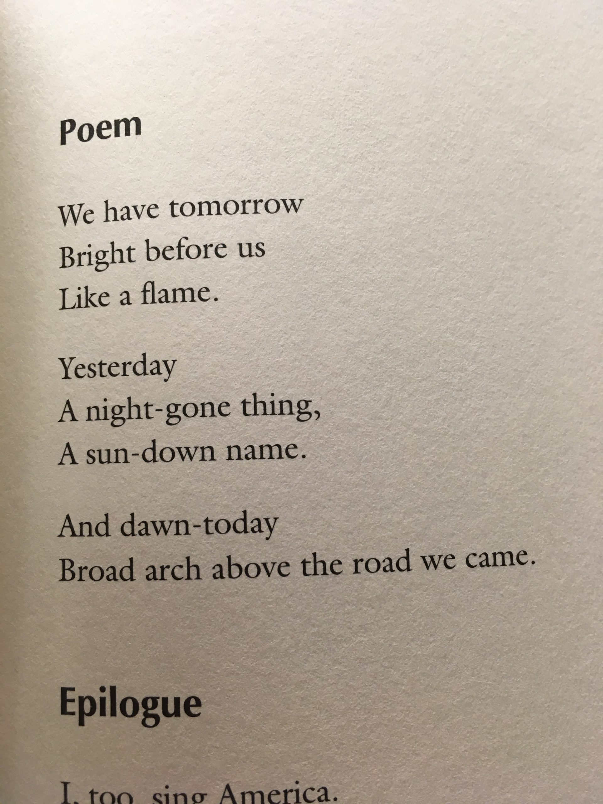 Page from Langston Hughes, Poem, The Poems, 1921-1940, PS3515.U274 2001
