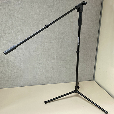 image of book microphone stand