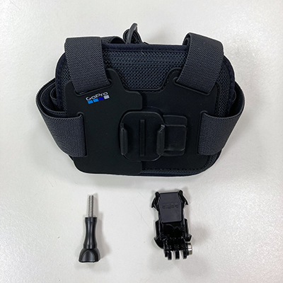 picture of parts for the go-pro chest mount