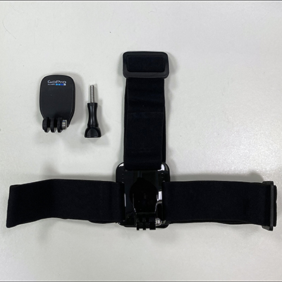 picture of parts of Go-Pro head strap