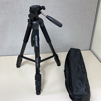 """image of medium-sized tripod from Neewer with 3/8"""" connectiion"""