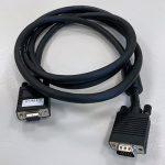 Image of VGA-female to VGA-male cable, 1.8m (6')