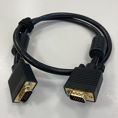 image of VGA-male to VGA-male cable, 0.9m (3')