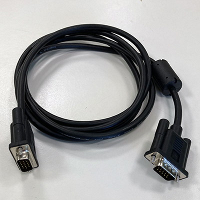 image of VGA-male to VGA-male cable, 1.8m (6')
