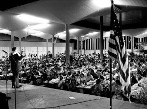 Representative Spark Matsunaga campaign event, 1968-10-02