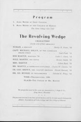 "cast list of 1920's play ""Revolving Wedge"""