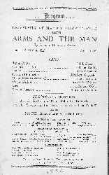 Arms and Man cast list