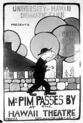 Another poster advertising Mr. Pim Passes By