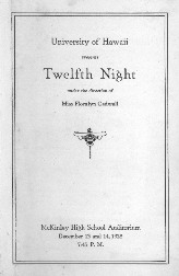 Program for the play Twelfth Night