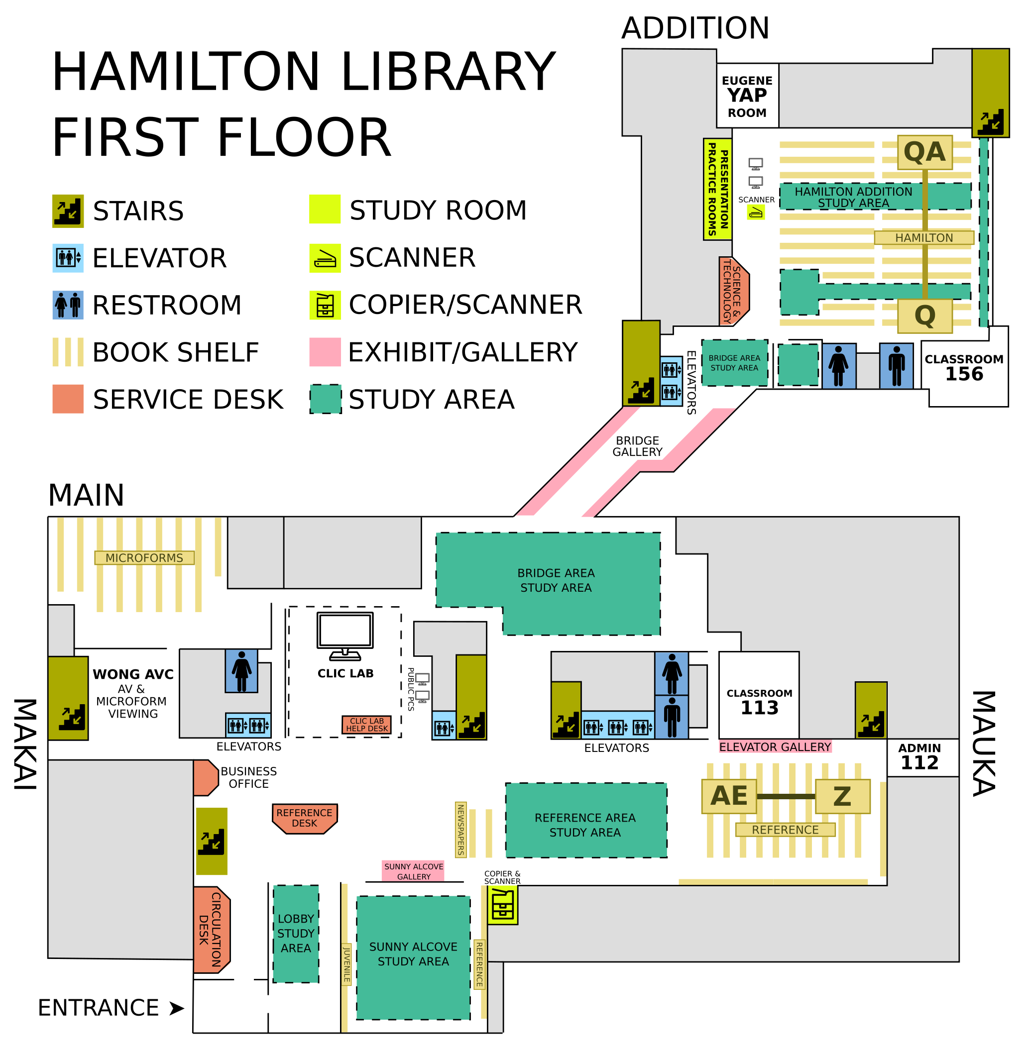 Library Floor Plans University Of Hawaii Manoa Library Website