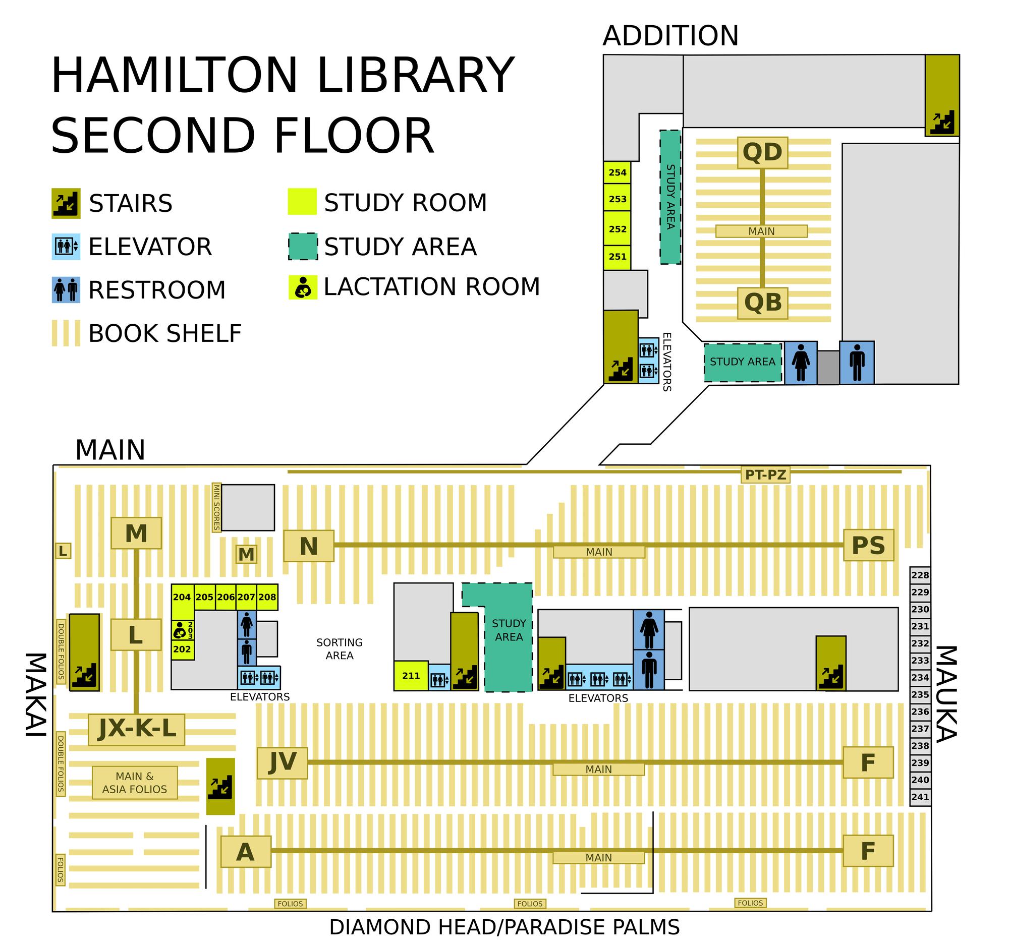 Hamilton second floor map