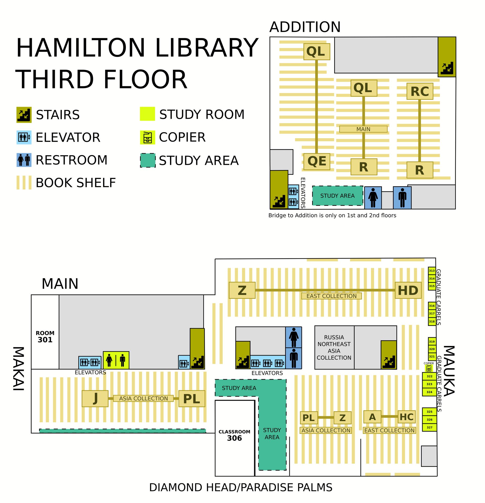Hamilton third floor map