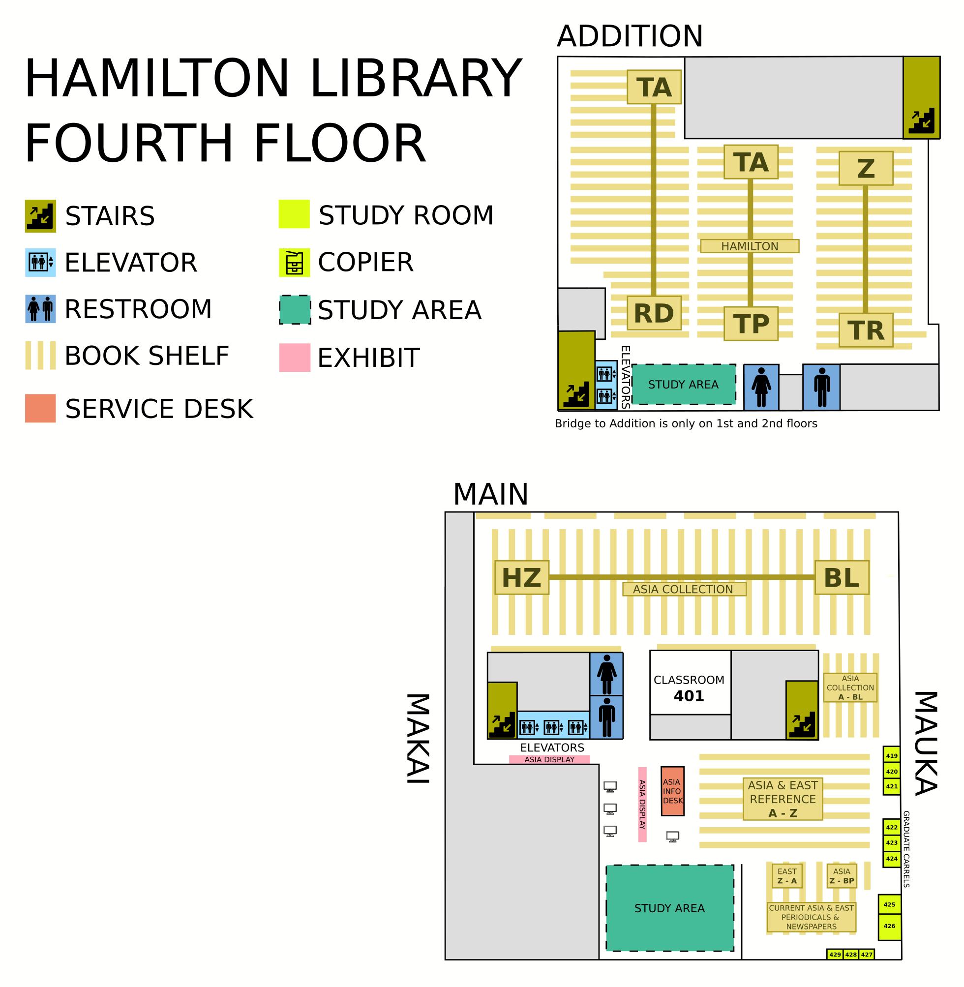 Hamilton fourth floor map