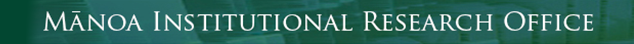 Mānoa Institutional Research Office logo