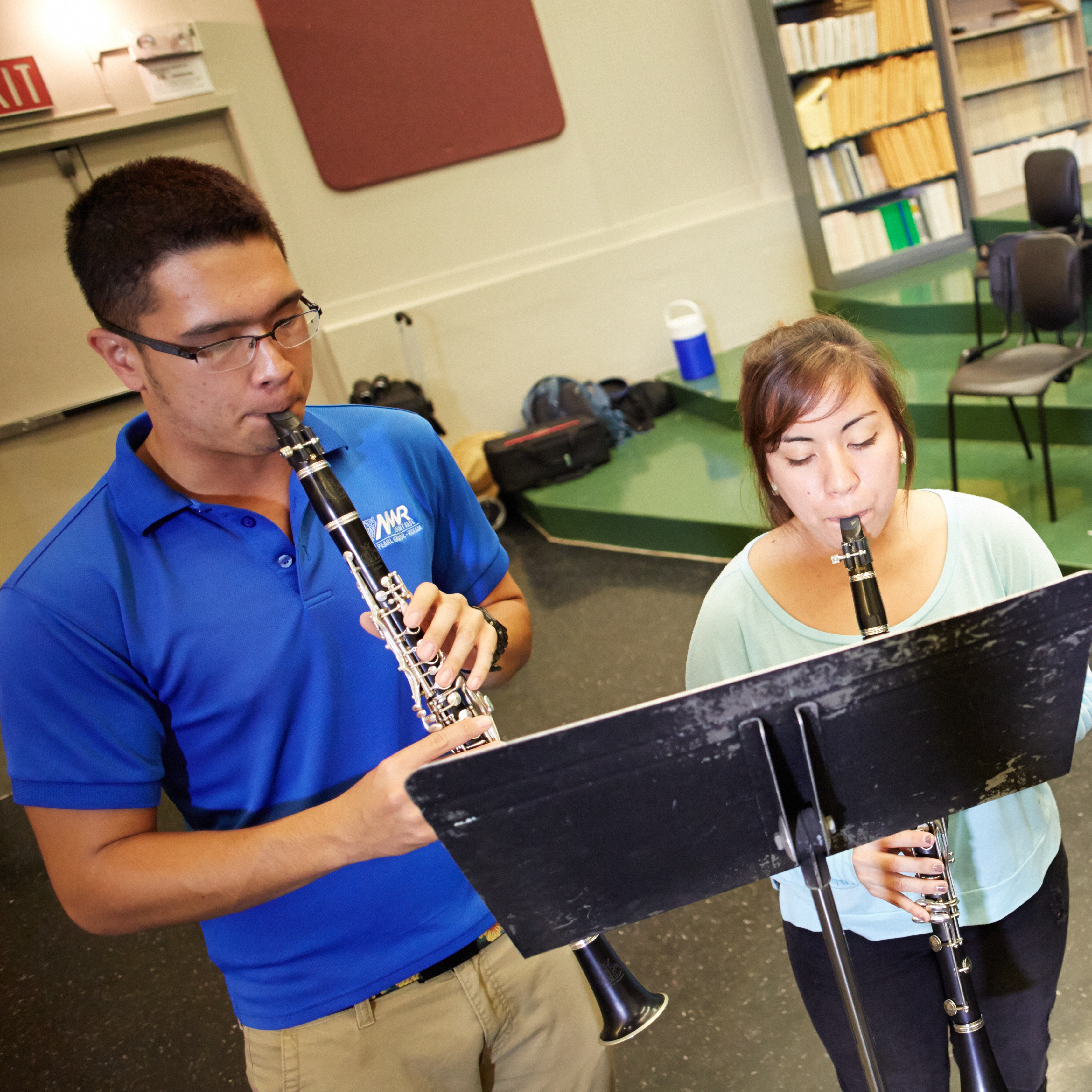 A clarinet section for the UH Mānoa Wind Ensemble
